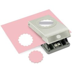 EK Tools 2-Inch Circle Paper Punch, Large, Scallop, New Package