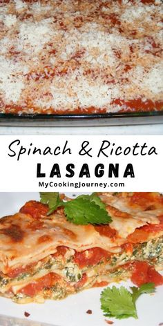 Spinach And Ricotta Lasagna is a very simple recipe that can be assembled well in advance and can be cooked just before dinner. I love to make this for parties, as you can make it ahead of time. It is also a very filling dish. One Pot Meals, Kids Meals, Easy Meals, Spinach And Ricotta Lasagna, Delicious Dinner Recipes, Yummy Recipes, Good Food, Yummy Food, Different Vegetables