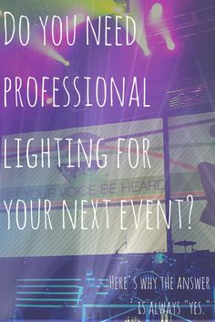 Considering professional lighting for your next event, ceremony, reception, or conference? Here's why lighting should always be kept in the budget!!http://www.waveformevents.com/?page_id=532