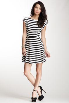 BB Dakota Zamora Stripe Print Dress