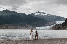 Magical Mendenhall Glacier Wedding with Waterfalls and Wildflowers Joel Allegretto-41