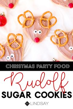 This adorable and easy Rudoph cookie recipe is perfect for holiday parties or even better to leave for Santa on Christmas Eve. Christmas Party Food, Christmas Treats, Christmas Eve, Christmas Recipes, Reindeer Cookies, Christmas Sugar Cookies, Holidays And Events, Happy Holidays, Fun Crafts