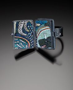 2012, polymer clay by Cynthia Toops and sterling silver metalwork by Juan Reyes.