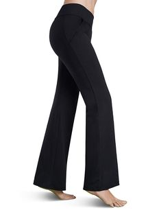 Balleay Art Bootcut Yoga Pants with Pockets for Women Flare Work Pants Tummy Control, Stretch Workout Long Bootleg Pants -- Check this awesome product by going to the link at the image. (This is an affiliate link) Yoga Pants For Work, Yoga Pants With Pockets, Stylish Outfits, Fashion Outfits, Stylish Clothes, Dress Yoga Pants, Women's Flares, Pants For Women, Flare Pants