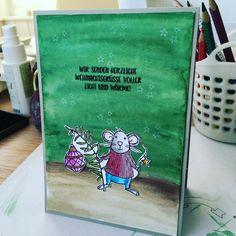 Koboldwerkelei Karte StampinUP StampinUP! Weihnachtskarte Christmascard Maus