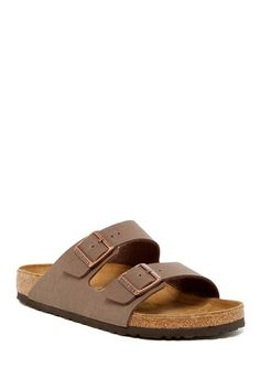 Arizona Classic Footbed Sandal Arizona Mocha Slip-On Sandal from Birkenstock on Women's Shoes, Cute Shoes, Me Too Shoes, Shoe Boots, Strappy Shoes, Cute Sandals, Prada Shoes, Heeled Sandals, Golf Shoes
