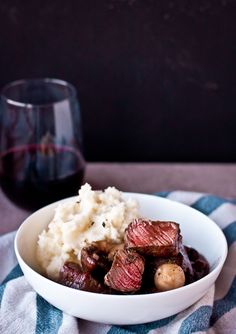30 Minute Beef Bourguignon | bloggingoverthyme.com