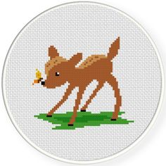 FREE Little Fawn Cross Stitch Pattern