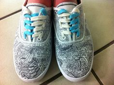 Sharpie shoes- I really want to do this with my students! I wonder if the sharpie would blead when it gets wet?