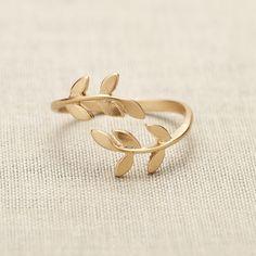 baby leaf ring