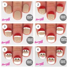One Nail To Rule Them All: Tutorial Thursday: Santa