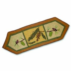 Patch Magic Small Pinecone Table Runner, 54-Inch by 16-Inch by Patch Magic. $31.00. 100-Percent Cotton, Handmade, Hand quilted. Matching Accessories available. 100% Cotton. Table Runner, Small 54-inch by 16-inch. Owl and Squirrel liven up the piney woods