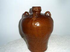 Vintage Chinese Jug Hunan Brown Ware Glaze by SocialmarysTreasures, $22.00