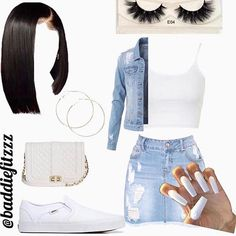 Retro-Inspired Outfits For Teens Baddie Outfits Casual, Swag Outfits For Girls, Teenage Girl Outfits, Cute Swag Outfits, Cute Comfy Outfits, Dope Outfits, Girly Outfits, Stylish Outfits, Summer Swag Outfits