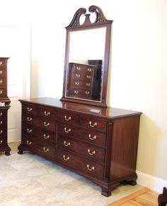 Henkel Harris Mahogany Dresser With Mirror By Prettyruggeddesigns