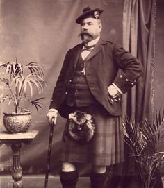 Malcolm Macdonald - Chief Constable of Sutherland Constabulary from 1887 to 1906 Malcolm Macdonald, Clan Macdonald, Scotland People, Scotland History, Men In Kilts, Highlanders, Most Beautiful Cities, Golf Shoes, Vintage Photographs