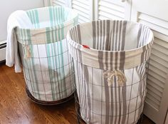 Airing our dirty laundry (and diy hamper) laundry basket, laundry room, hom Small Space Interior Design, Interior Design Living Room, Wicker Laundry Hamper, Laundry Basket, Laundry Room, Ideias Diy, Easy Diy Projects, Diy Home Decor, Blog