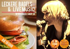 Gleich ist Open Stage mit #LiveMusic :-) Also ab ins Fresh Bagels & Muffins !!!  #bagelshop #OpenStage www.bagelshop.de