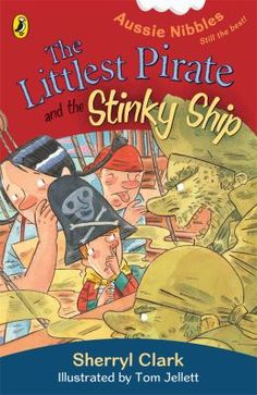 While Nicholas Nosh, the Littlest Pirate, is sailing home from an expedition to get special food for his birthday party, his crew is overcome by a terrible smell. Soon the Golden Pudding is boarded by a band of pirates led by Captain Stinker, the dirtiest, ugliest, smelliest pirate in the Seven Seas,....
