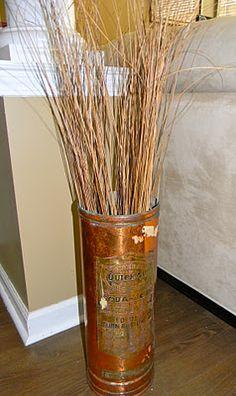 Fire extinguisher floor vase