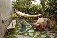 kleine tuin, groen,chill en comfy