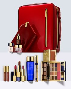 Estee Lauder The Color Edit BlockBuster - 2015 Holiday Value Set. This is the gift you've been waiting for. The biggest, most beautiful collection includes 20 Pure Color shades (including three full-size lipsticks) our #1 Repair Serum and so much more, all in a deluxe travel case. WORTH OVER $350.00 The BIGGEST, MOST BEAUTIFUL GIFT. This extraordinary collection includes: • Deluxe Eye Palette with 12 Best-Selling Pure Color Envy Sculpting EyeShadow shades: Pink Mink #1, Captivating Cocoa…