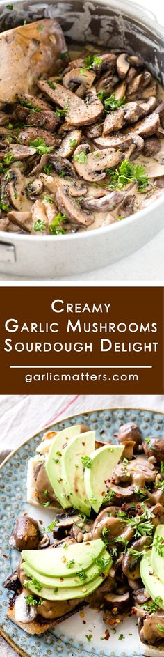 Creamy Garlic Mushrooms on sourdough toast recipe is an easy, sauteed starter or a side dish which will easily accompany any comfort food style dinner. It is so tasty I like to have it as a main course as well! I sometimes mix the creamy garlic mushrooms with a bit of Parmesan and enjoy with some simple boiled pasta or have them with fried egg over for lazy brunch on a weekend. Yum!