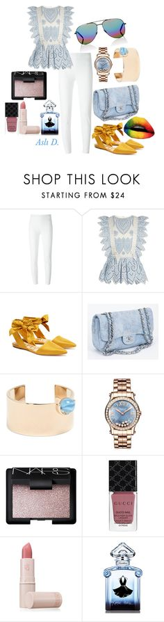 """""""My Style 9"""" by duydu-asli ❤ liked on Polyvore featuring Moschino, self-portrait, Sam Edelman, Chanel, Givenchy, Chopard, NARS Cosmetics, Gucci, Lipstick Queen and Guerlain"""