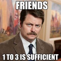 Ron Swanson is a character from the NBC sitcom Parks and Recreation. Played by Nick Offerman, Ron Swanson has become notable online for his rugged demeanor and wisdom. Parks And Recreation, Parks N Rec, Parks And Rec Quotes, Outdoor Recreation, Ron Swanson Quotes, Ron Swanson Gif, Funny Memes, Hilarious, Funny Cartoons