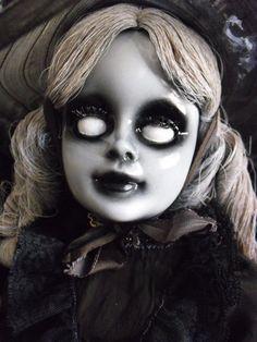 Zelda The Zombie 20 Vintage Altered Doll by DeceasedArt on Etsy