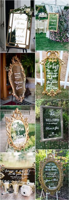 Wedding    Decorations » 27 Vintage Mirror Wedding Sign Decoration Ideas »   ❤️ See more:     http://www.weddinginclude.com/2017/07/mirror-wedding-sign-decoration-ideas/