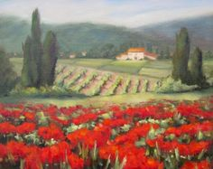 Painting in Tuscany, painting by artist Pat Fiorello