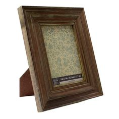 <div>Display a cherished photograph or artwork in this casual tabletop frame. The brown frame lo...