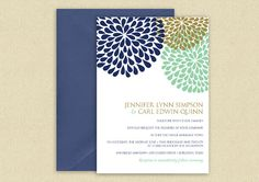 Wedding Invitation Template  DOWNLOAD by DiyWeddingTemplates, $8.00