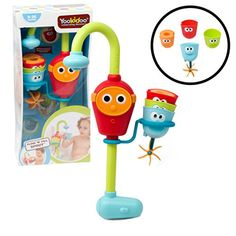 Baby Bath Toy - Flow N Fill Spout - Three Stackable Cups And Automated Spout by Yookidoo Bath Toys For Toddlers, Best Toddler Toys, Kids Toys, Toddler Stuff, Kid Stuff, Chloe Gifts, Best Bath Toys, 1st Birthday Presents, Kids Corner