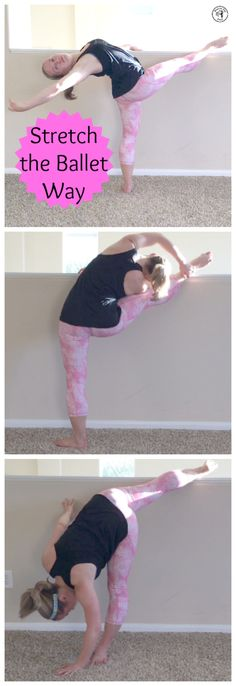 Stretch the ballerina way - target your sides, hamstrings, and back!  http://www.melissakolbeck.com