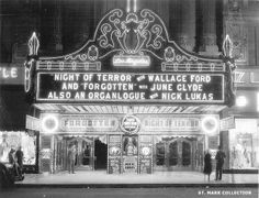 Old Photo Of The Gorgeous Los Angeles Movie Theater Marquee In Downtown LA Vintage Neon