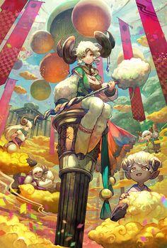「夢雲の羊宮」by「lack」のイラスト [pixiv] #anime #illustration