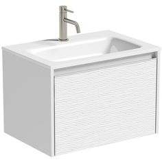 Mode Banks Textured Matt White Wall Hung Vanity Unit And Basin Contemporary Bathroom Furniture, Contemporary Bathroom Designs, Contemporary Design, Inset Basin, Bathroom Storage Units, Wall Mounted Vanity, Chrome Handles, Metal Drawers, Vanity Units
