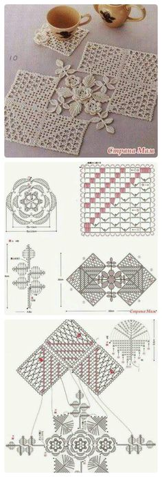 Most up-to-date Cost-Free Crochet coasters diagram Tips Crochet coasters diagram table runners 28 Ideas for 2019 Crochet Square Patterns, Crochet Chart, Crochet Squares, Thread Crochet, Filet Crochet, Crochet Motif, Crochet Doilies, Crochet Flowers, Crochet Lace