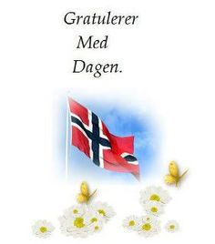 "Gratulerer Med Dagen  ""congratulations with the day""  This is how you say Happy Birthday in Norwegian."