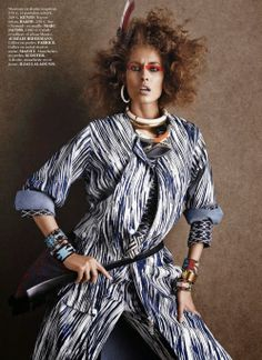 Tribal: #NadjaBender by #GiampaoloSgura for #VogueParis May 2014