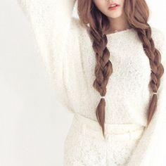 braided pigtails, long braids, plaits