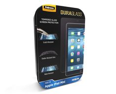 Fellowes DuraGlass screen protector novelty tin package design.