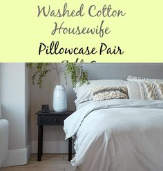 Sublimely delicate and clean with a crisp, cool really feel on the pores and skin, our elegant cotton bedding is ideal for on a regular basis use. Cotton Bedding, Housewife, Pillow Cases, Delicate, Pairs, Gray, Cool Stuff, Elegant, Decoration