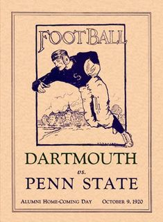 vintage dartmouth vs penn state  lol if this game were to happen now