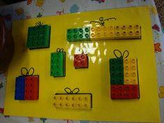 Oppervlakte Christmas Math, Preschool Christmas, Christmas Activities, Christmas Time, Christmas Crafts, Lego Duplo, Montessori Activities, Toddler Activities, Crafts For Kids