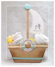 New Arrival Boat Project was created using products and the Bouncing Baby Buggy template from www.mytimemadeeasy.com