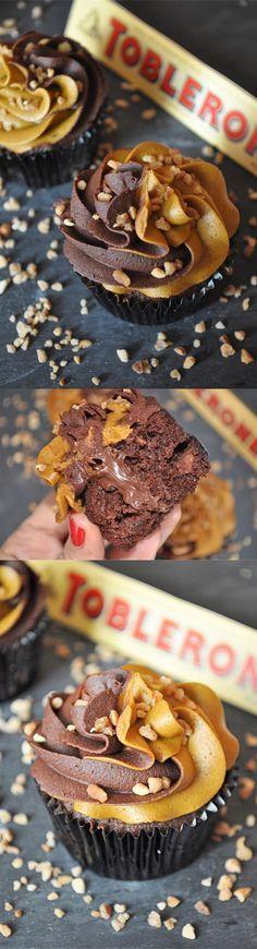 Cupcake de Toblerone / http://obsesionporloscupcakes.blogspot.com.es/