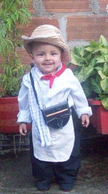 Boy dressed in Colombian folkloric outfit